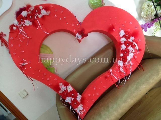 Сердце из пенопласта как украсить