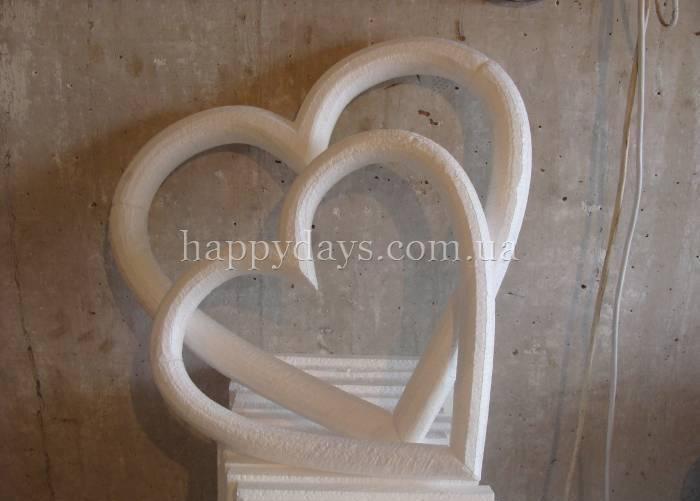 Сердце из пенопласта на свадьбу своими руками